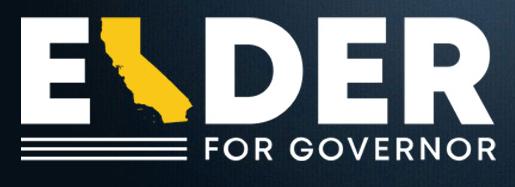 Elder for Governor 2021