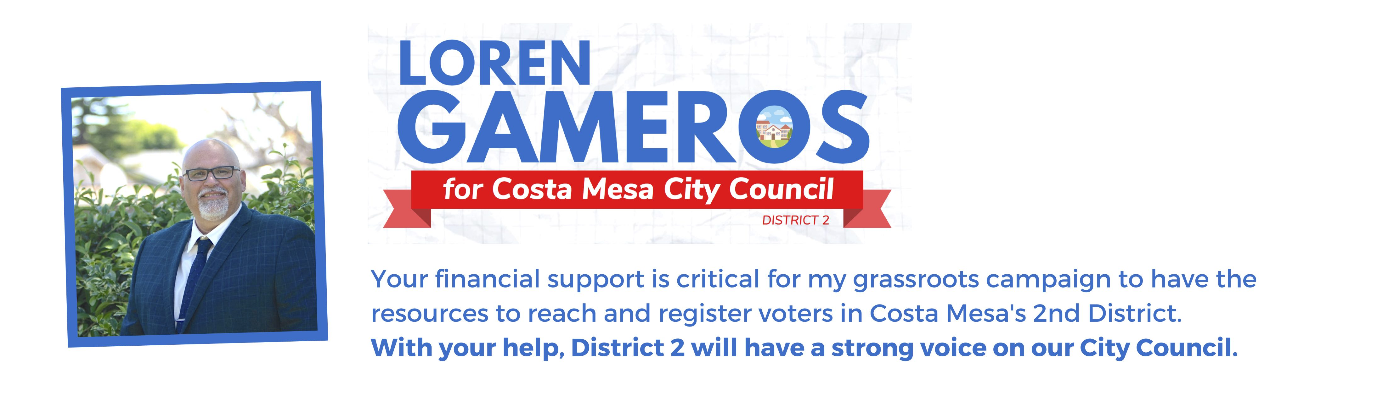 Gameros for Costa Mesa District 2 in 2020